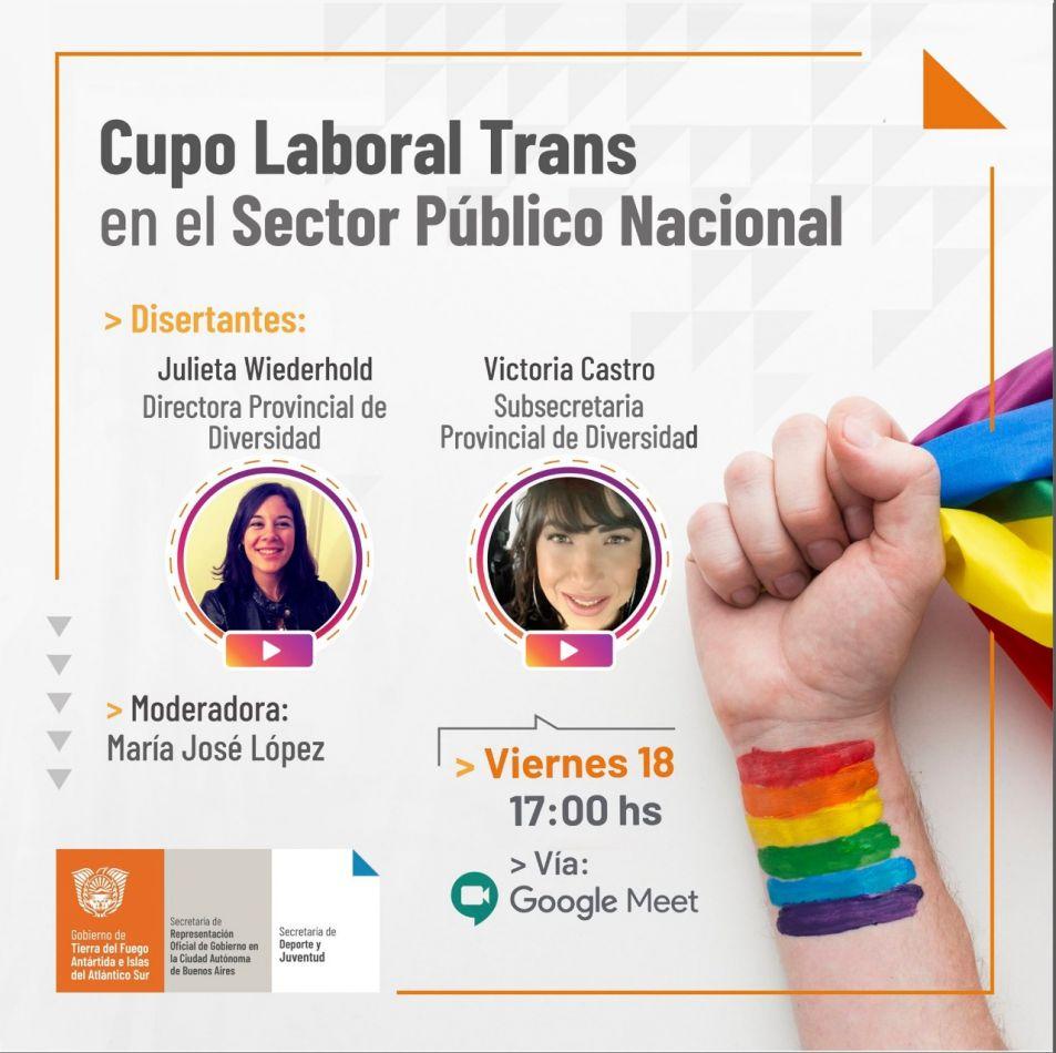 """Charla Virtual """"Cupo Laboral Trans en el sector público nacional"""