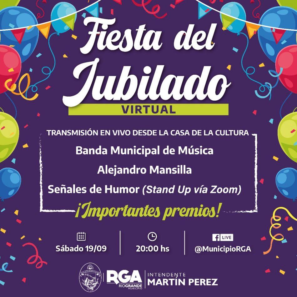 El evento se transmitirá a través del Facebook del Municipio (@MunicipioRGA) a partir de las 20 horas este sábado 19.
