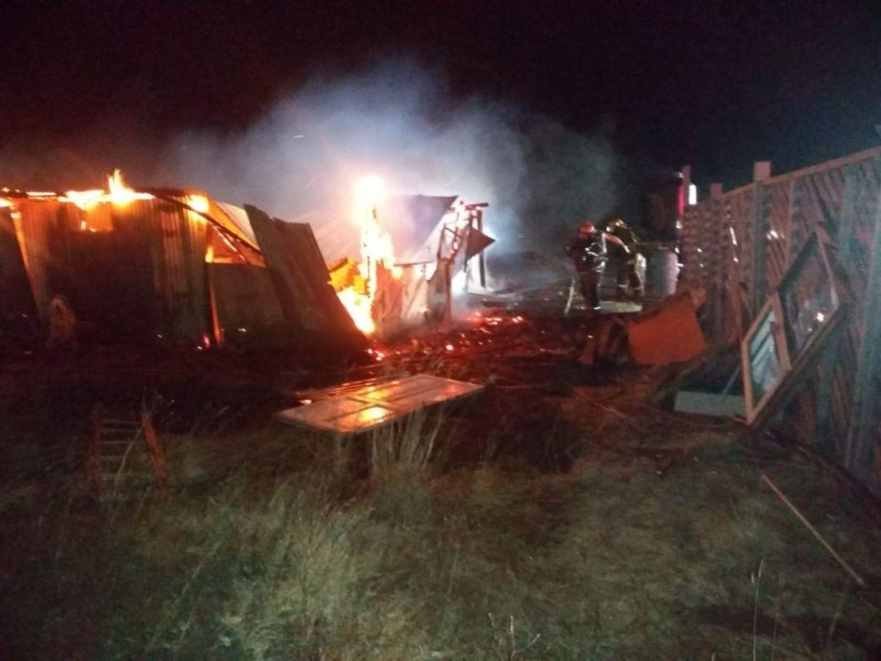 Una casilla fue consumida por el fuego en Río Grande