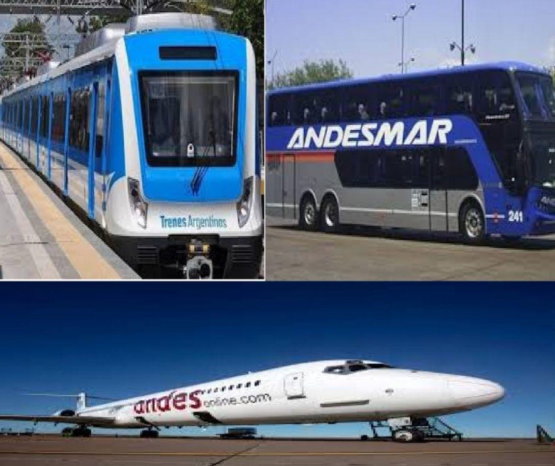 Regresan vuelos, micros y trenes de larga distancia
