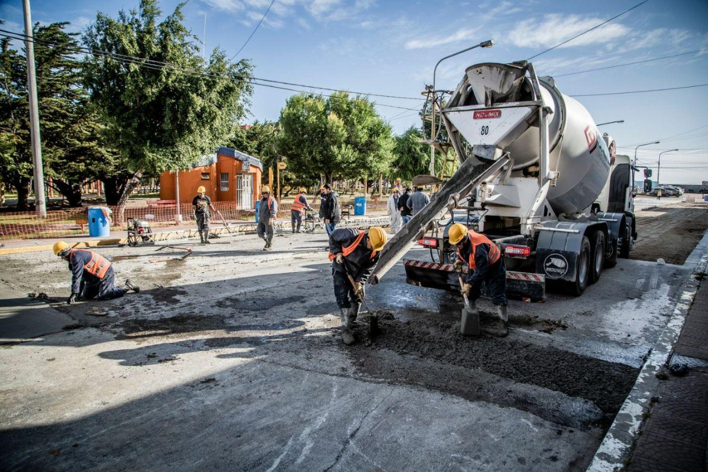 Remediación en sectores de la ciudad.