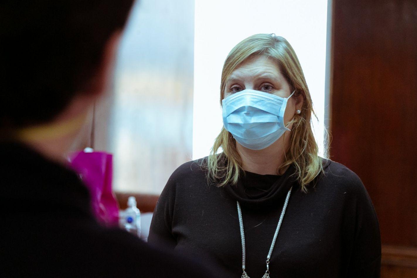 Ministra de Salud Judit Di Giglio .