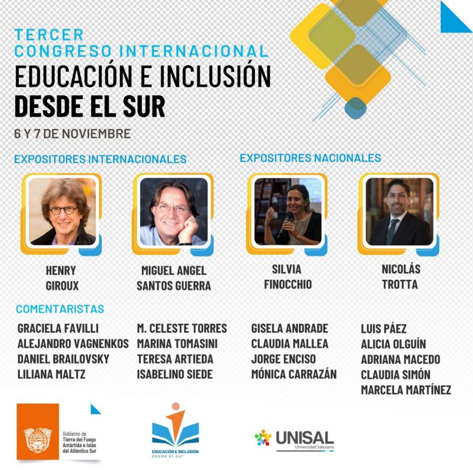 Comenzaron las inscripciones para el 3° Congreso Internacional Educación e Inclusión desde Sur