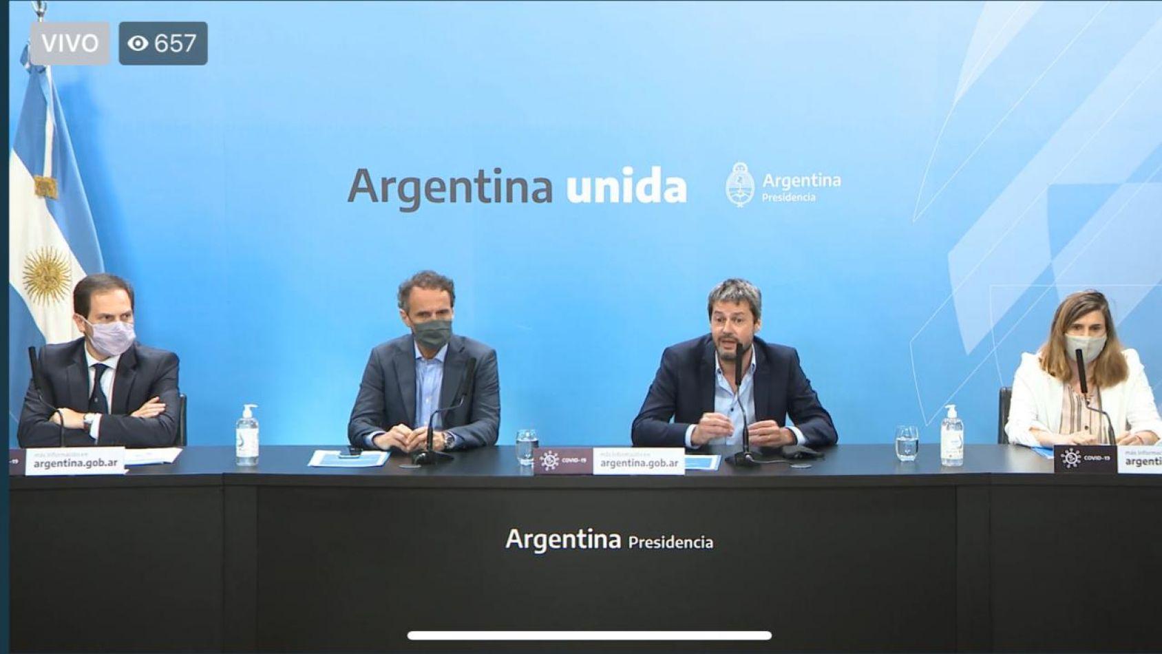 Ministro de Obras Públicas de la Nación, Gabriel Katopodis, y su par de Turismo y Deporte, Matías Lammens.