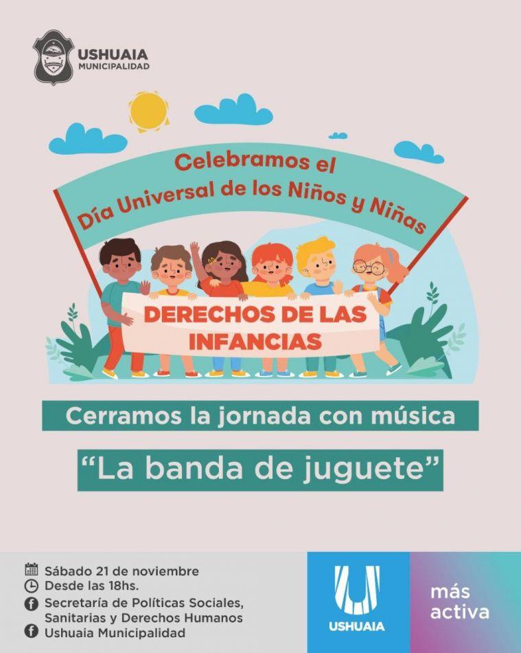 Banda del Juguete estará a cargo del cierre de actividades por los Derechos de las Infancias