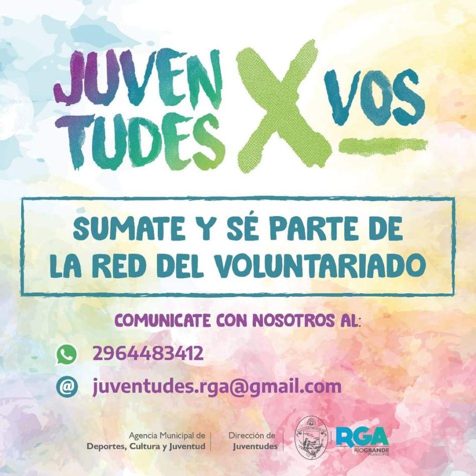 """Sumate a la Red de voluntariado """"Juventudes x Vos"""""""