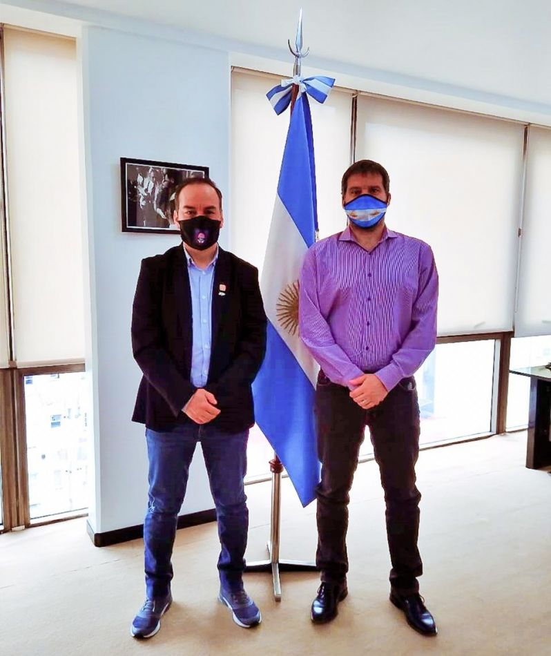 El Secretario de Energía provincial fue recibido por el interventor del Ente Nacional Regulador del Gas Federico Bernal