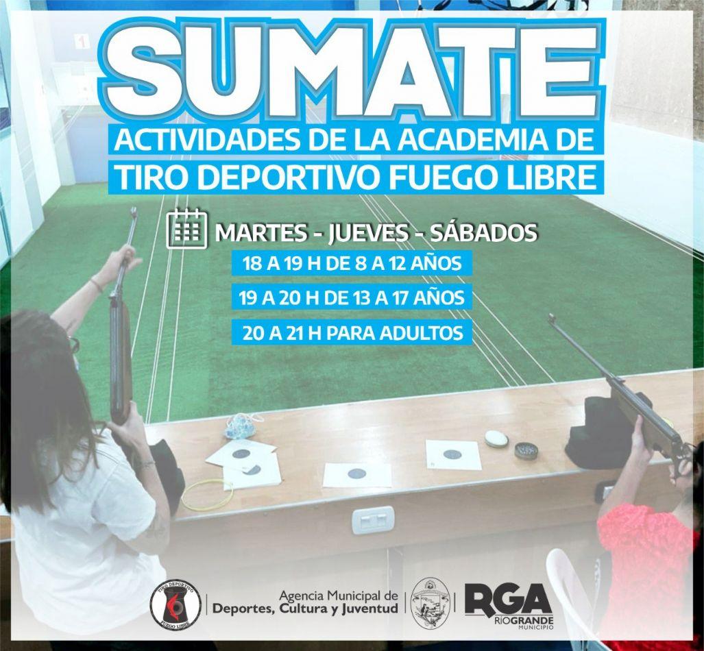 "Invitan a sumarse a la Academia de Tiro Deportivo ""Fuego Libre"""