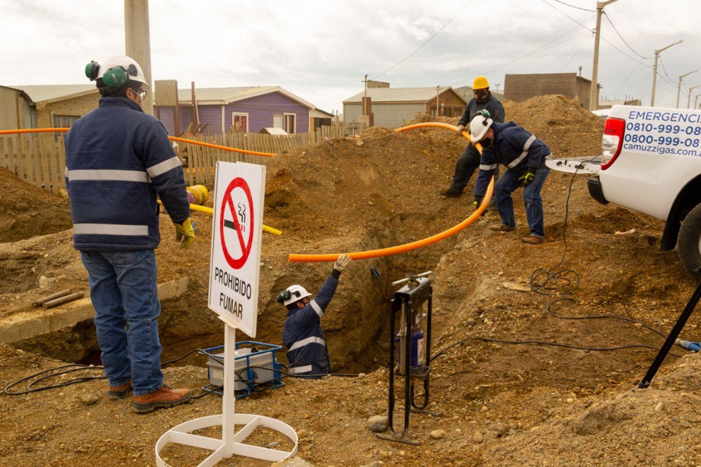 Se inauguró la obra de conexión de red de gas natural del barrio Mirador