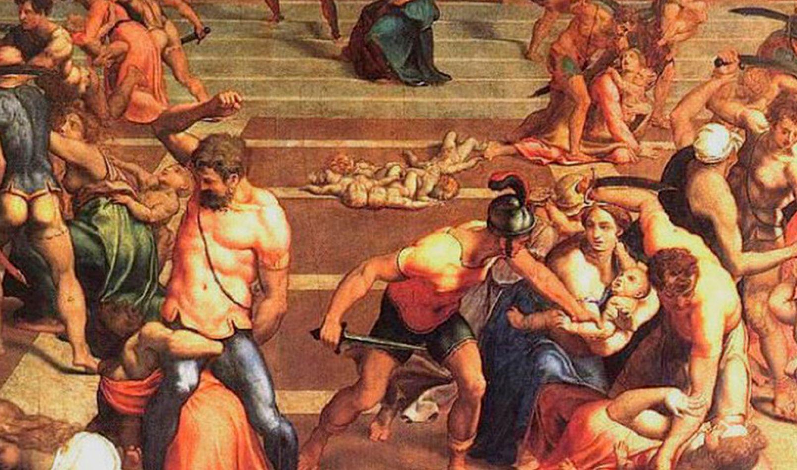 Matanza de los Santos Inocentes, según el Códice Egberti (siglo X)