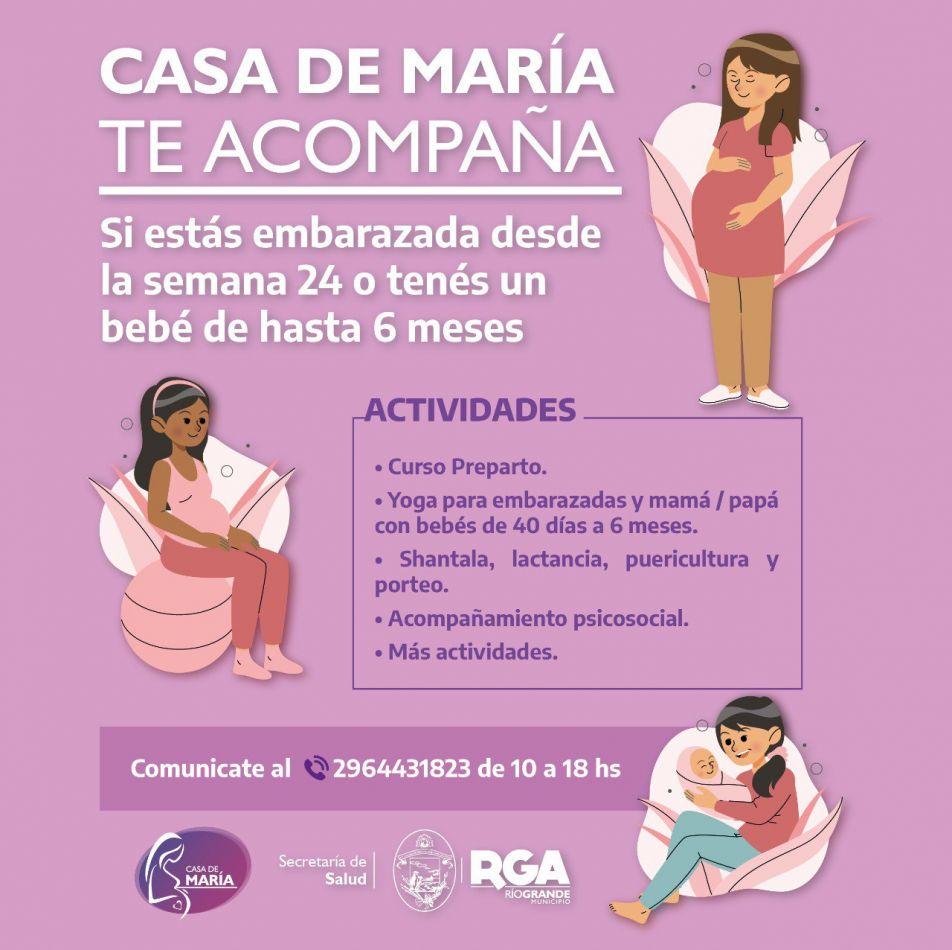 Casa María continúa acompañando a embarazadas y primera infancias
