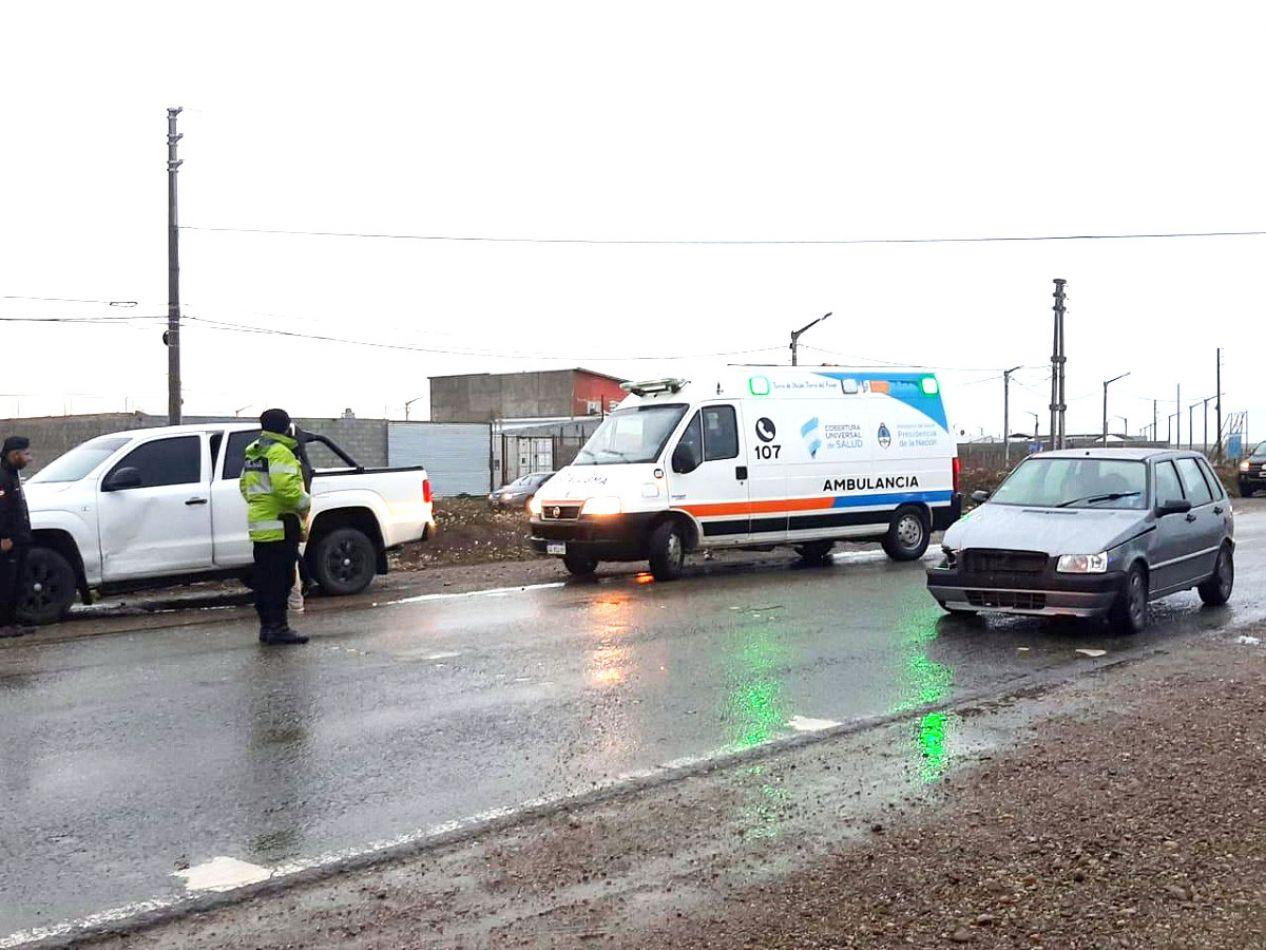 Violento accidente de tránsito con personas heridas en Circunvalación