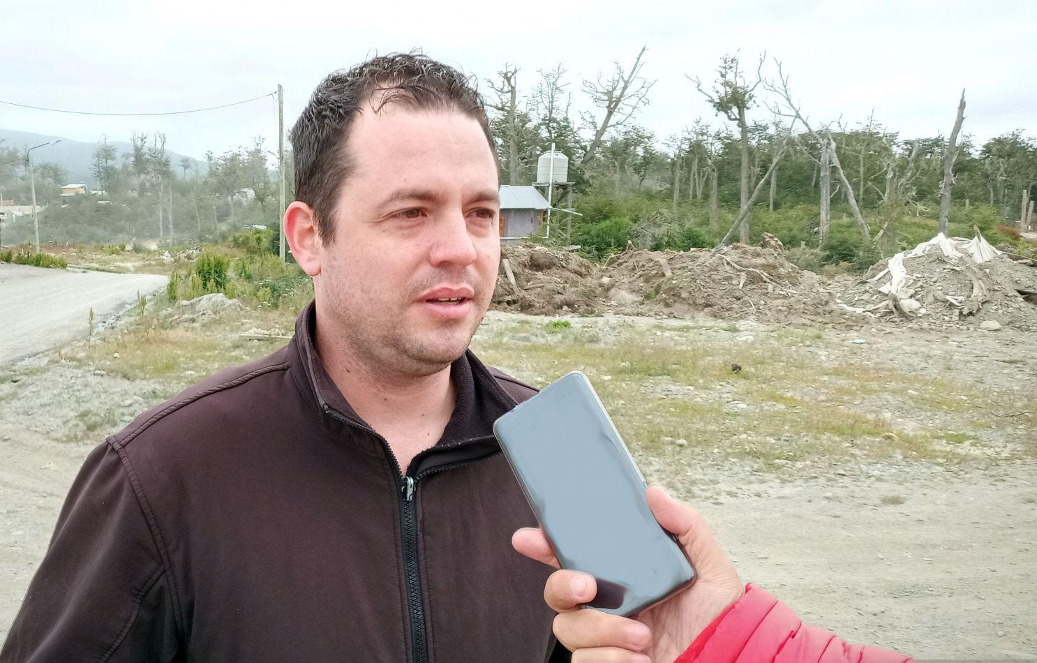 Matías Romano, uno de los vecinos quien acusó al Municipio de Tolhuin por el cobro irregular del canon de uso.