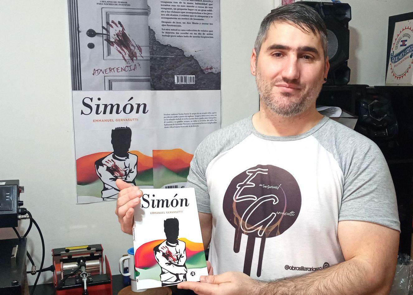 """Emmanuel Gervasutti, con su libro """"Simón"""", anunció la presentación de """"La otra mitad I""""."""