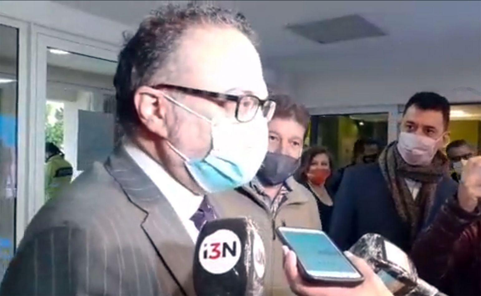 El ministro de la Producción de Nación, Matías Kulfas, a su llegada a Río Grande.