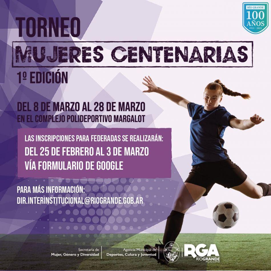 """Comienzan las inscripciones para participantes del torneo """"Mujeres Centenarias"""""""