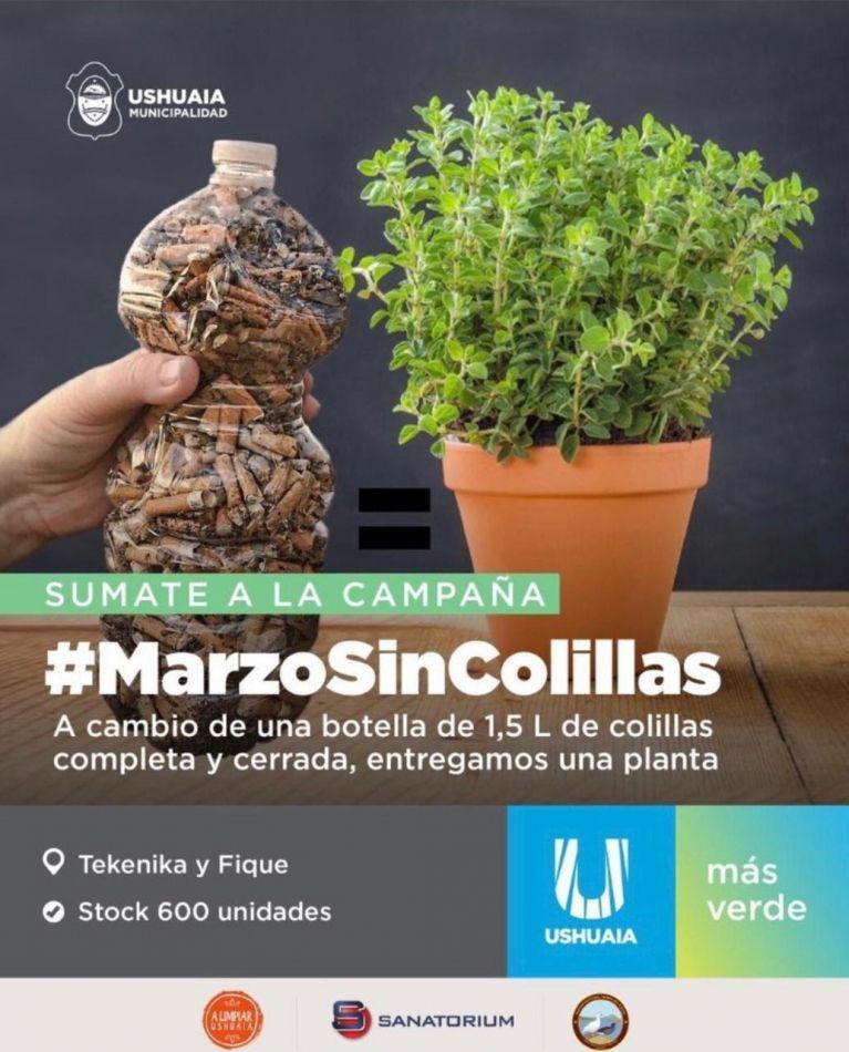 """Ushuaia se suma a la campaña ambiental """"Marzo sin colillas"""""""