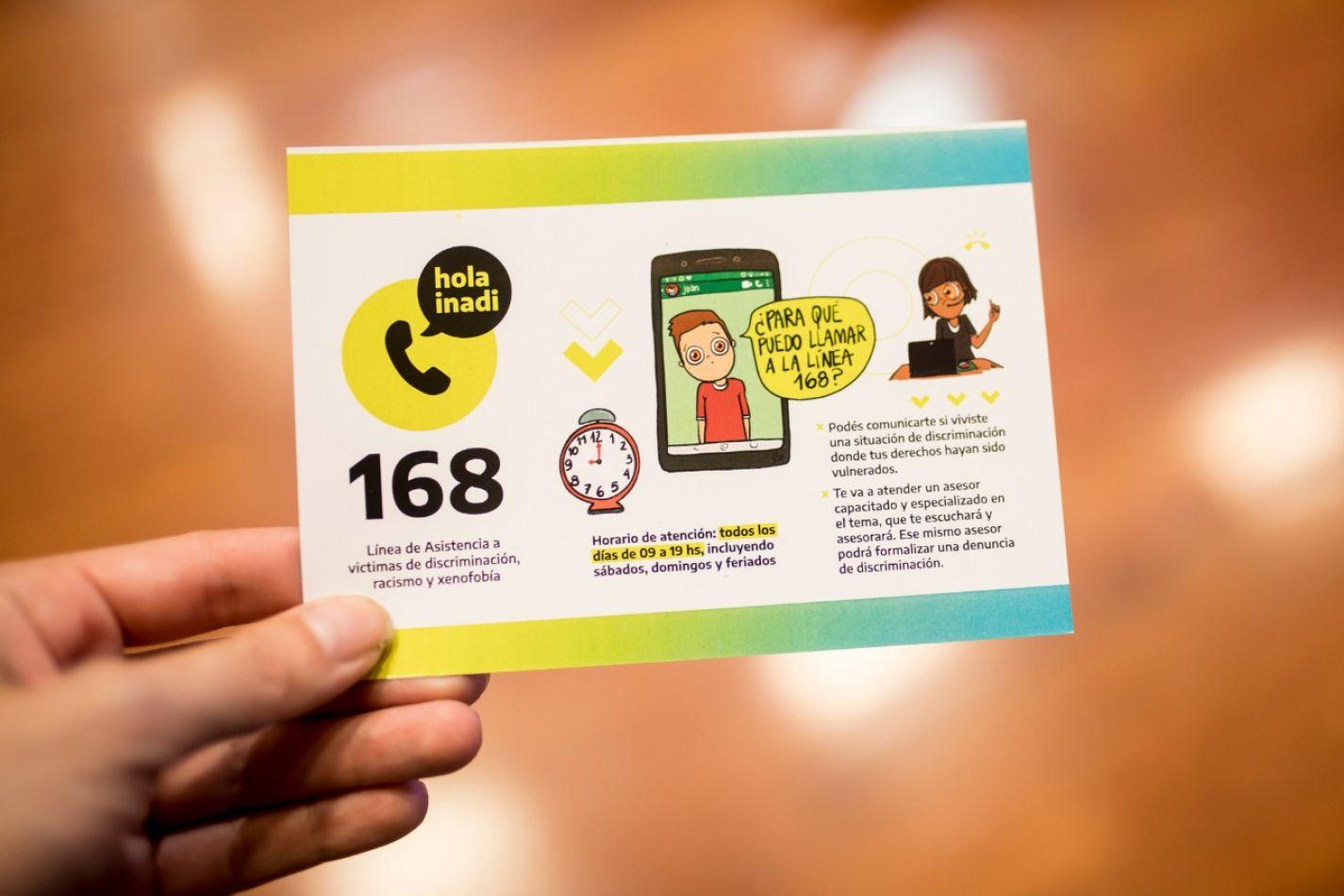 El 168, la nueva línea de comunicación con el INADI