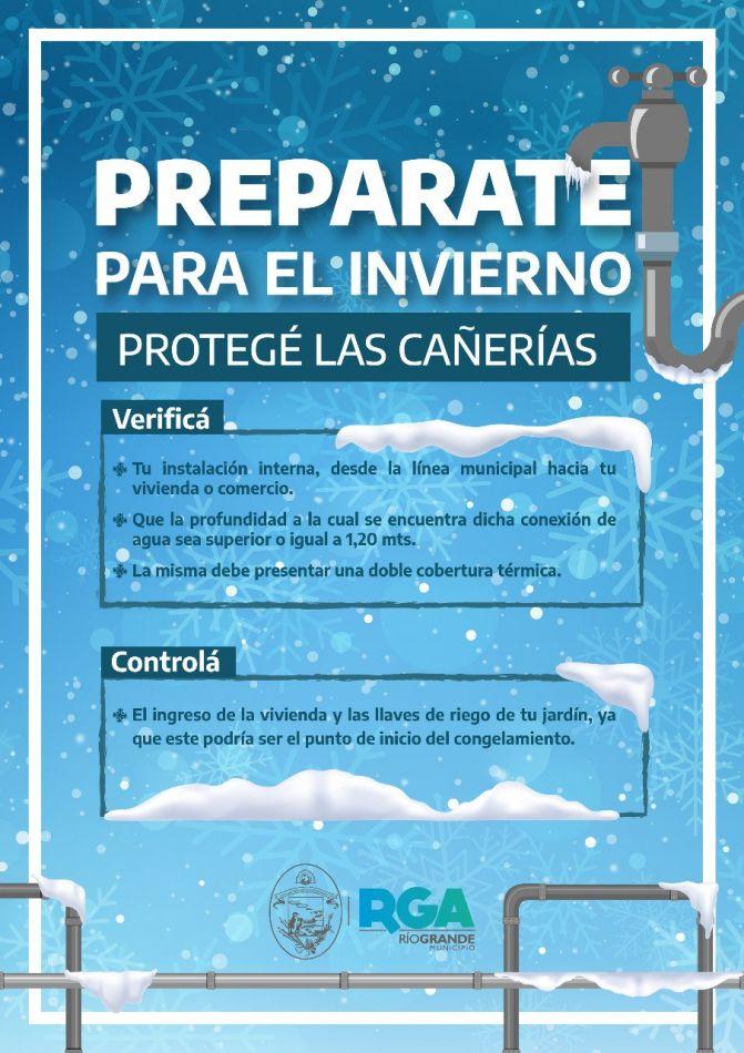 Brindan recomendaciones para prepararlas cañerías para el invierno