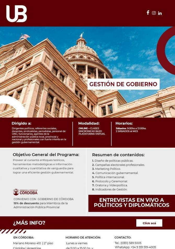 Extienden invitación para la capacitación que dicta la Universidad de Belgrano