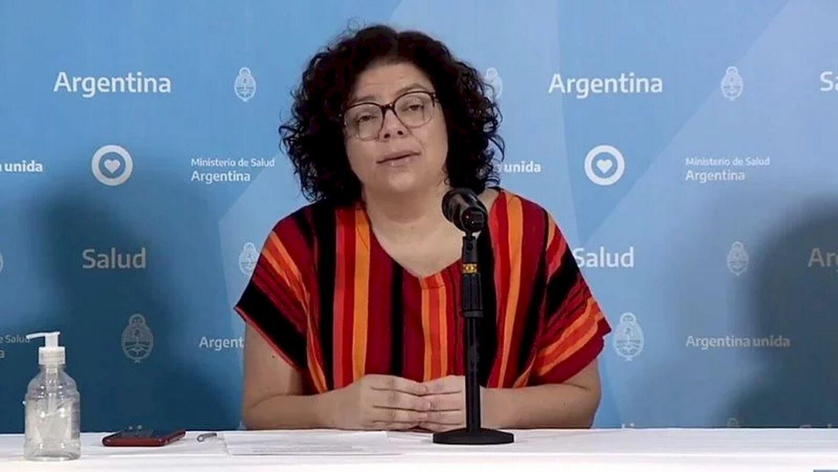 Ministra de Salud Carla Vizzotti