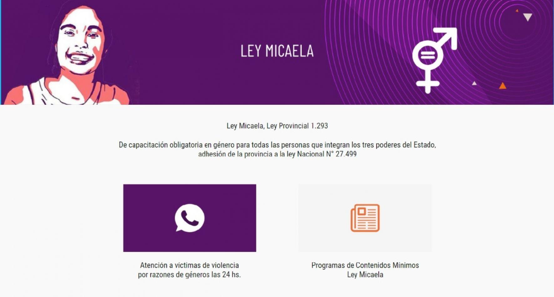 Incorporación de un enlace web para atención las 24 horas a victimas de violencia de género