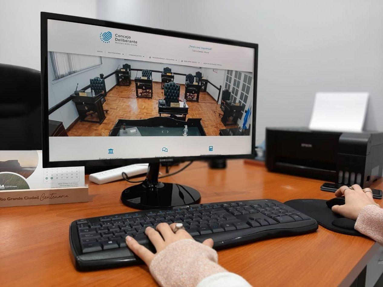 El Concejo Deliberante presentó nueva página web