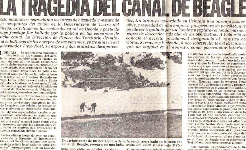 Recorte del diario La Razón, informando de la tragedia.