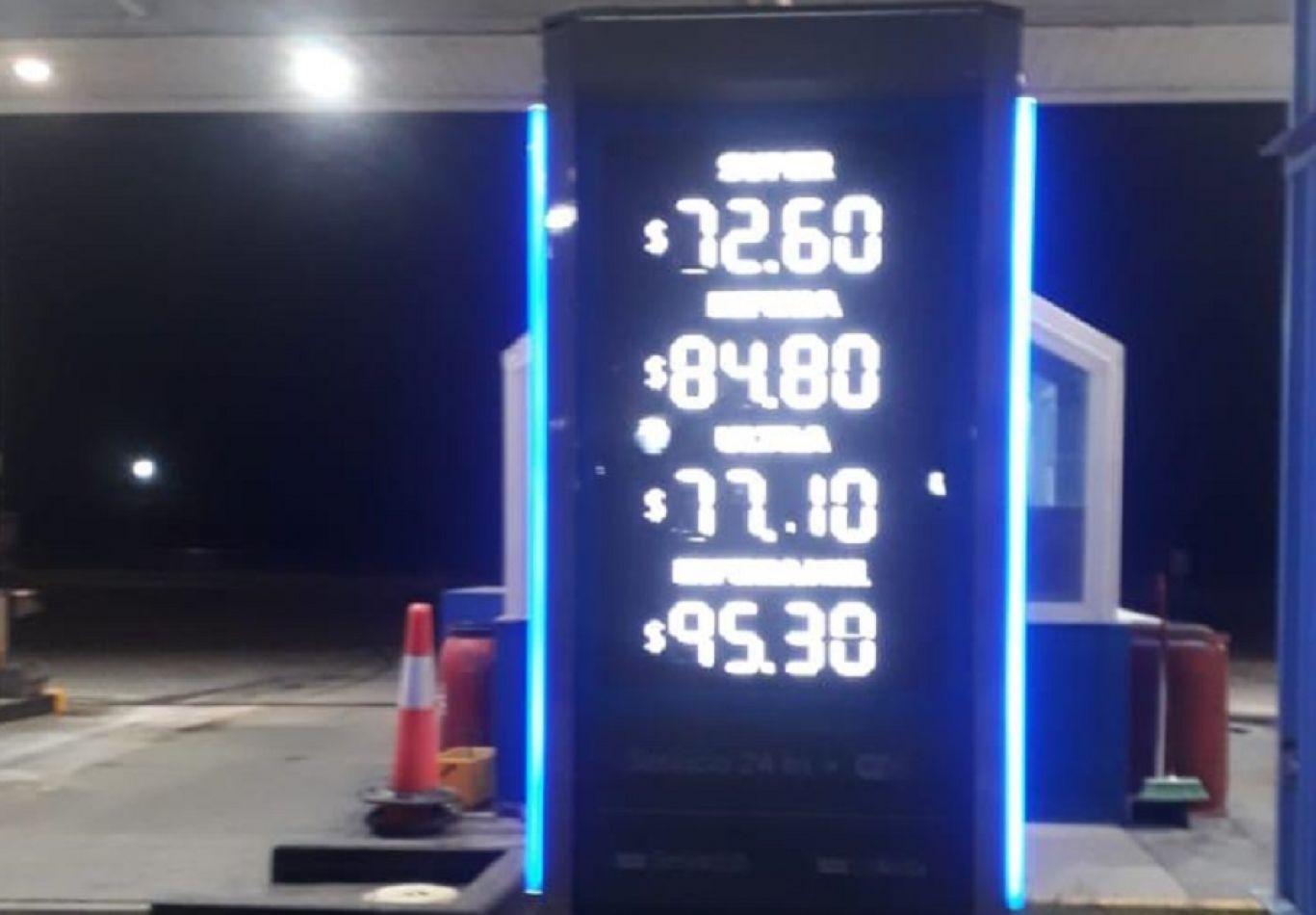 Séptimo aumento de los combustibles en lo que va del 2021.