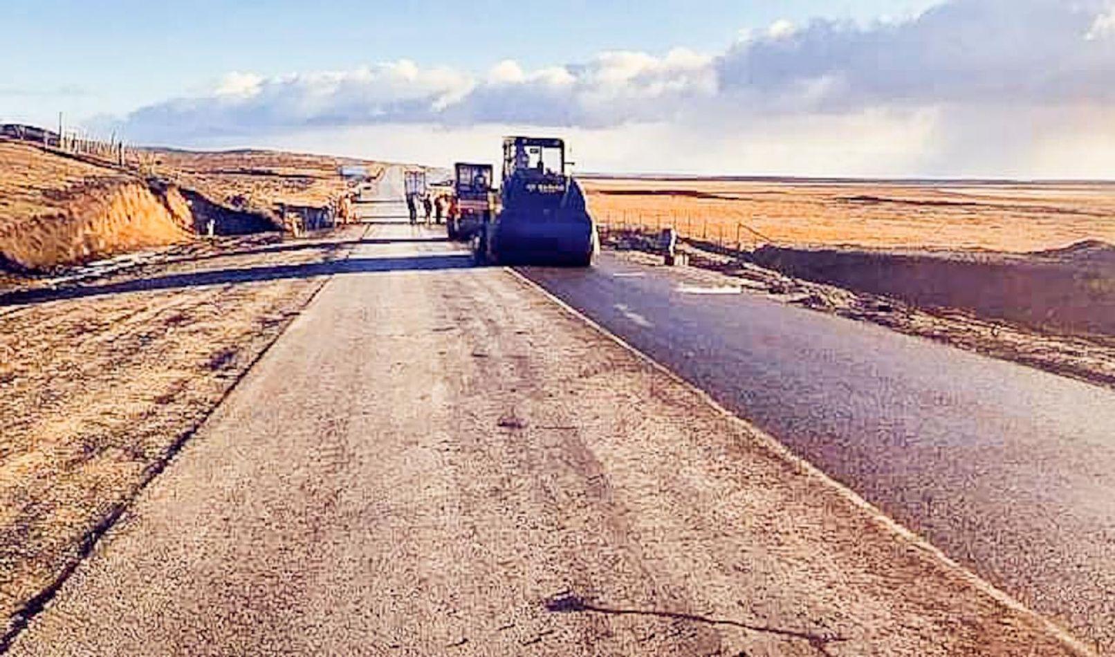 Finalizó  la pavimentación de los 14 kilómetros de la Ruta 3 en San Sebastián
