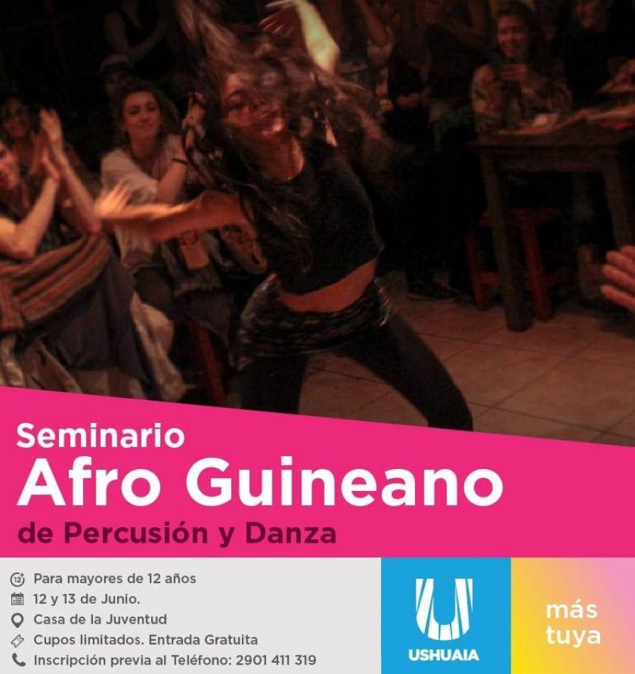 Seminario Afro Guineano de danza y percusión