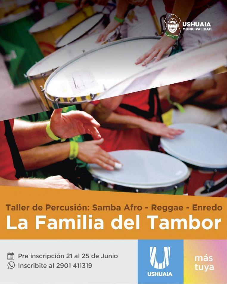 "Talleres de percusión ""La Familia del Tambor"""