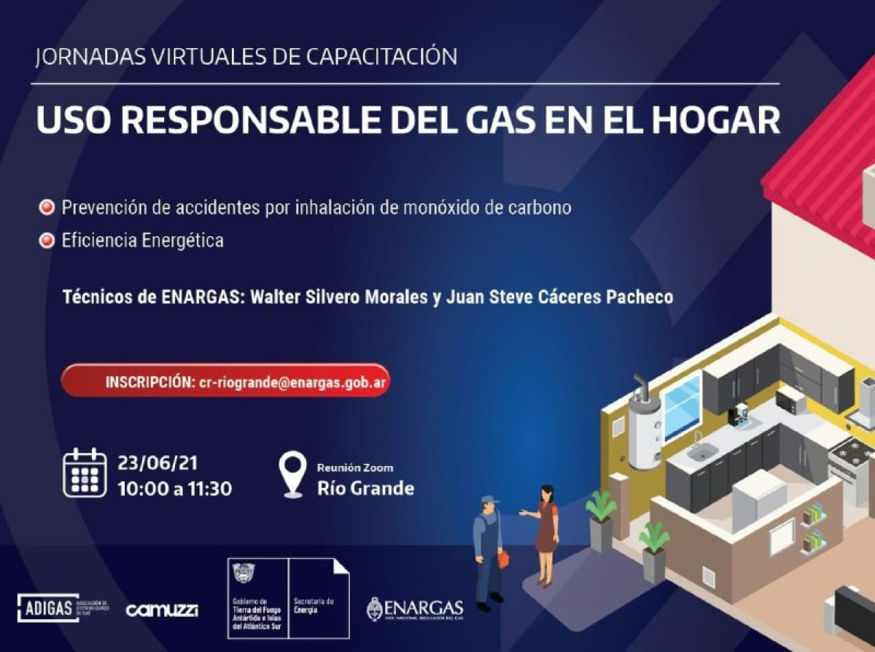 Jornada virtual de capacitación sobre uso responsable del gas en el hogar