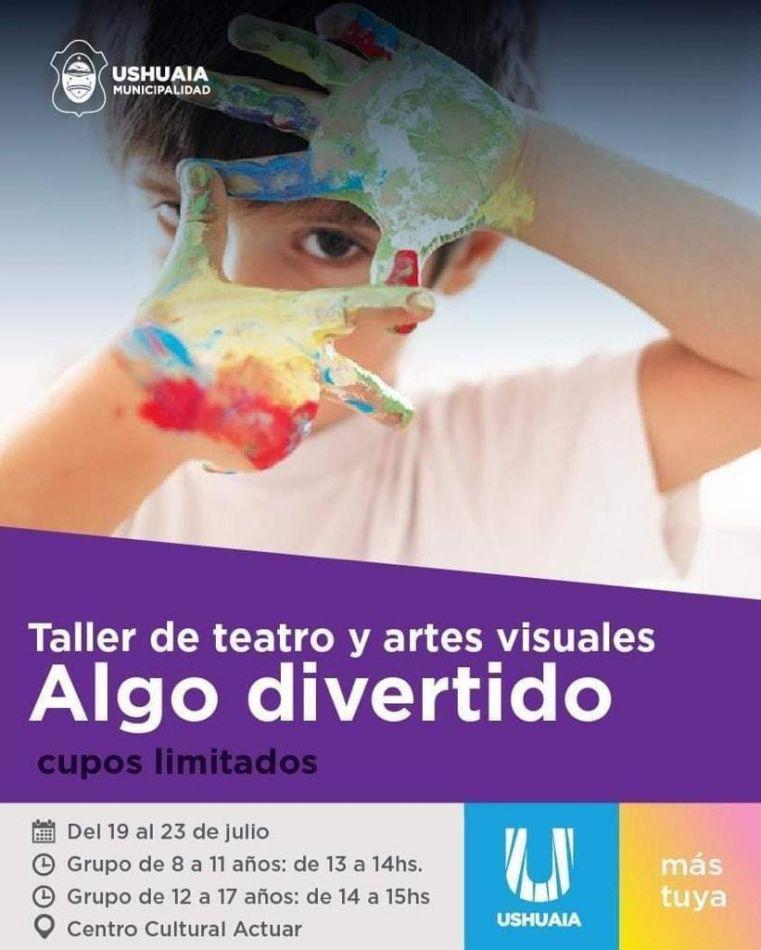 """Cultura municipal lleva adelante el taller """"Algo Divertivo"""" para niños de Ushuaia"""