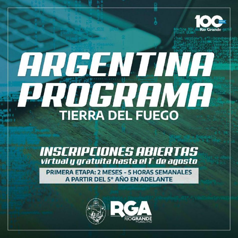 """Se abre la pre inscripción para """"Argentina Programa"""""""
