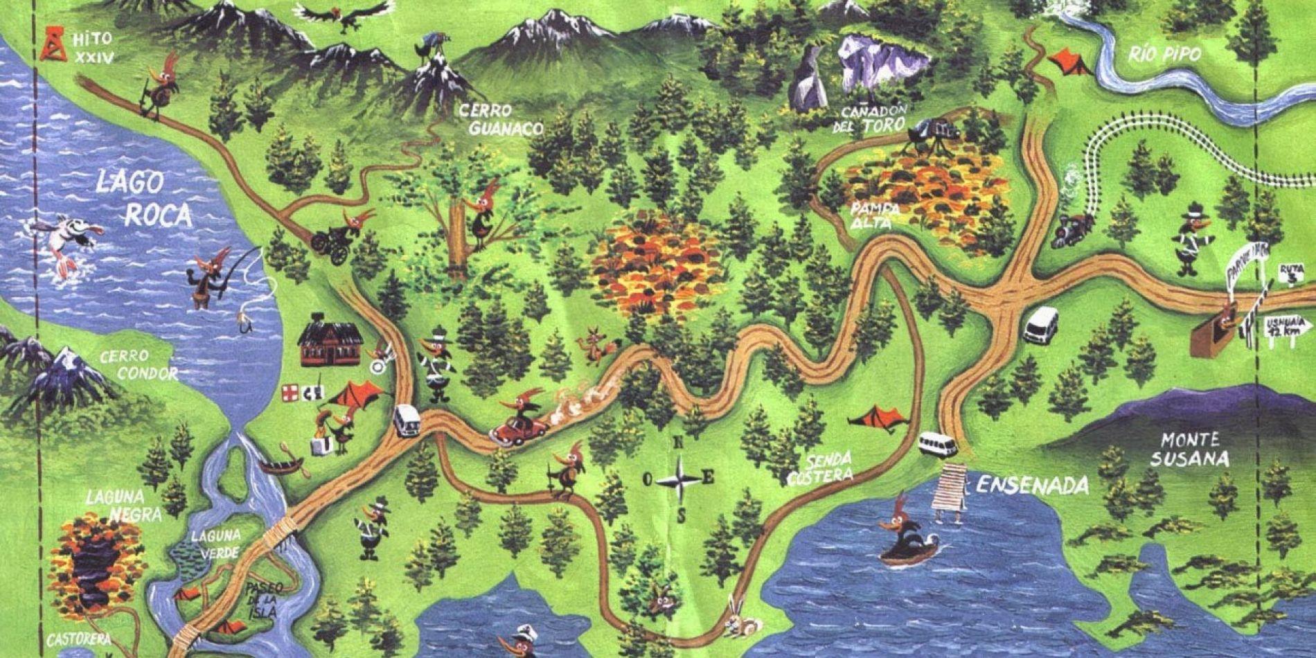 Nación y provincia firmaron un convenio para pavimentar la ruta 3 en el Parque Nacional Tierra del Fuego.
