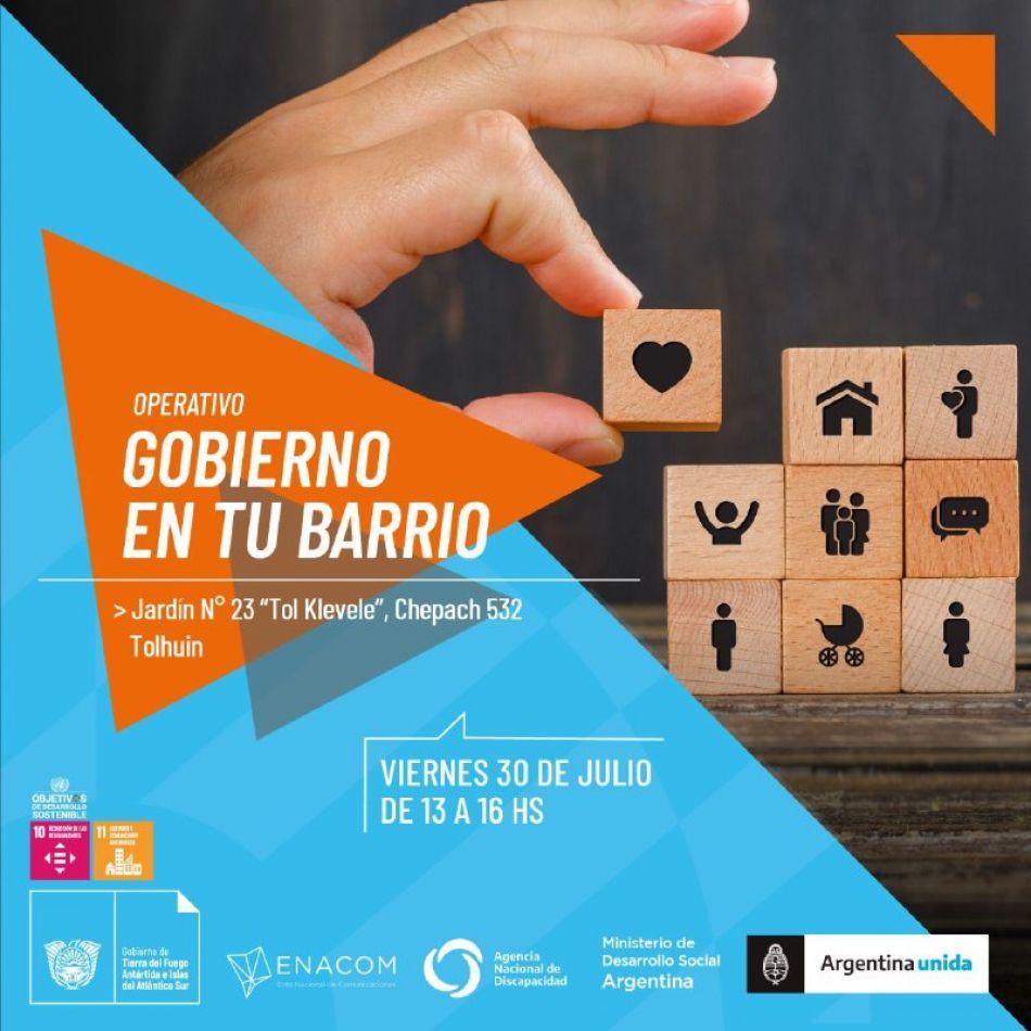 """Nueva jornada de """"Operativo en tu Barrio"""" en Tolhuin"""
