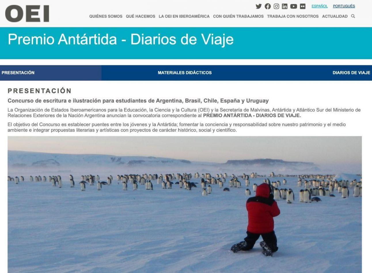 Concurso Internacional de Escritura e Ilustración sobre la Antártida