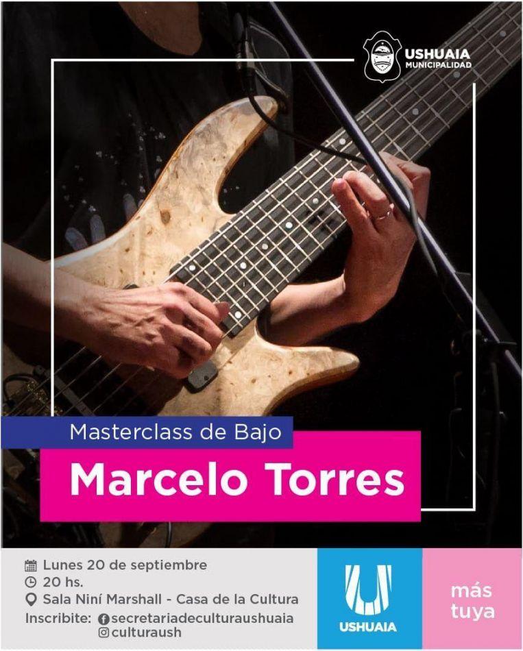 El músico Marcelo Torres brindará una masterclass y show en Ushuaia