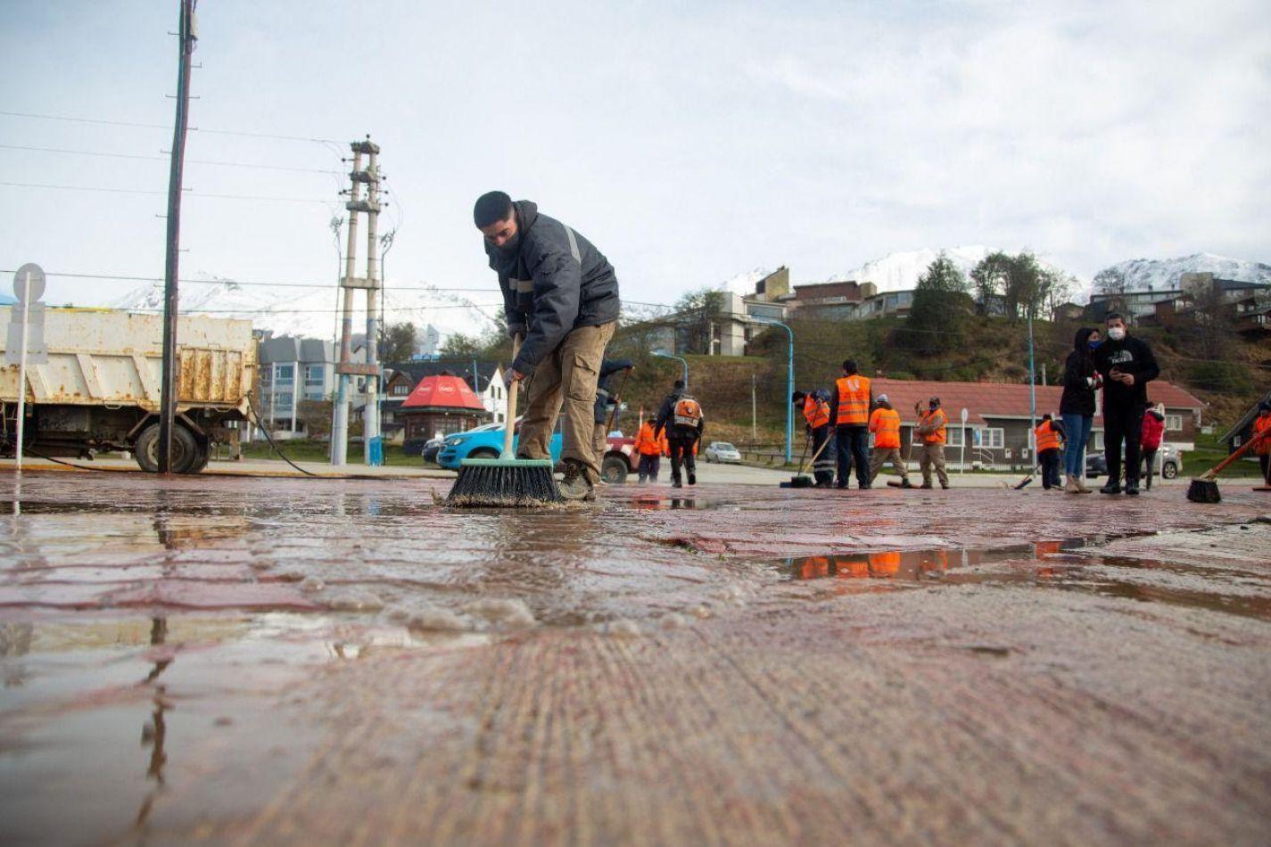 Jornada de limpieza integral en el corredor costero