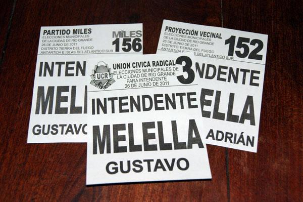 Dos listas colectoras adhirieron a la candidatura de Gustavo Melella.