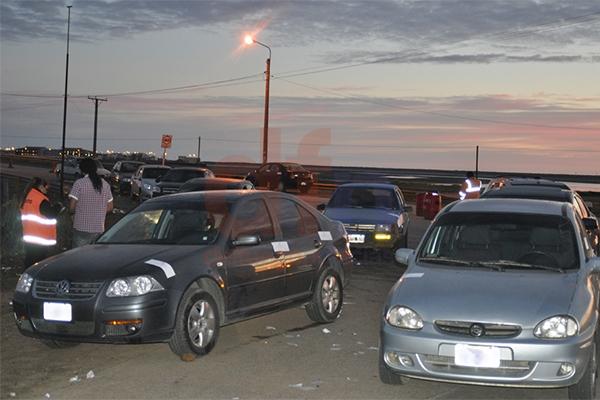 En Margen Sur, decenas de autos secuestrados por alcoholemia positiva.