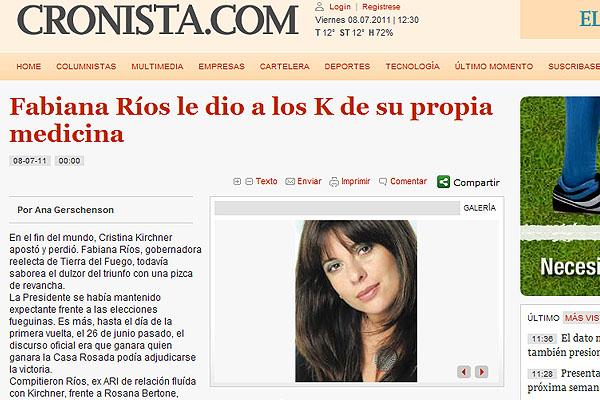 La columna de opinión fue escrita por la periodista Ana Gerschenson.