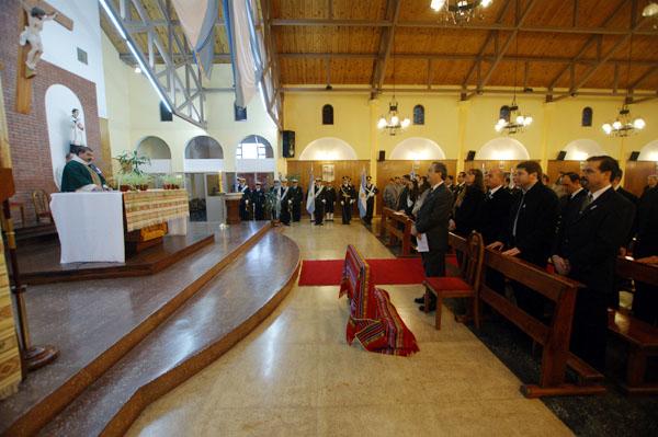 El Solemne Tedeum se desarrolló en la parroquia San Juan Bosco.
