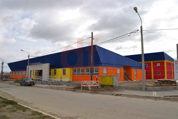La escuela se construyó con el aporte de la firma New San.