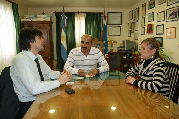 Rossi, Rodríguez y Boyadjian, durante la reunión del miércoles.