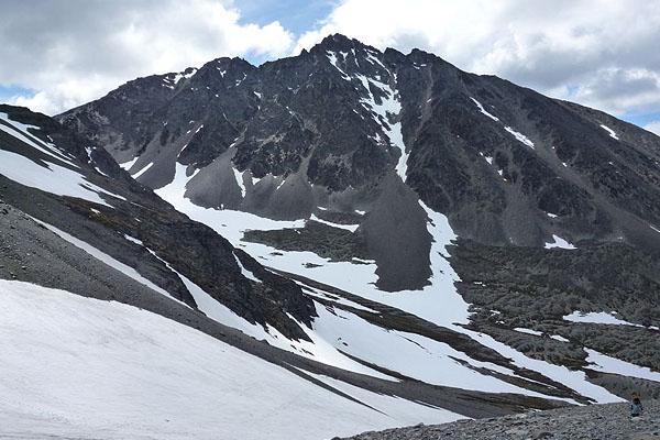 El glaciar Martial en Ushuaia, corre serio peligro por el calentamiento global.
