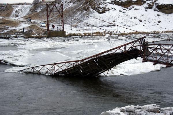 El puente colgante colapsó el pasado viernes.