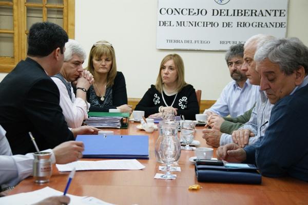 La reunión se realizó este miércoles en el Concejo Deliberante.